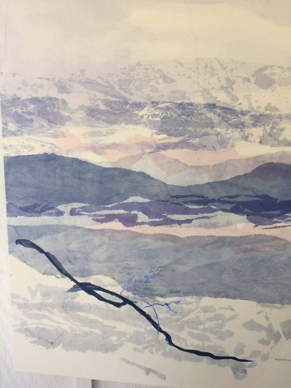 'Mountains in Blue'' by Jan Sullivan Fowler - PoppyLy