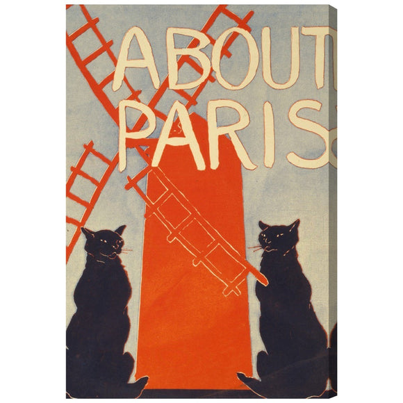 'About Paris' Canvas Art - PoppyLy