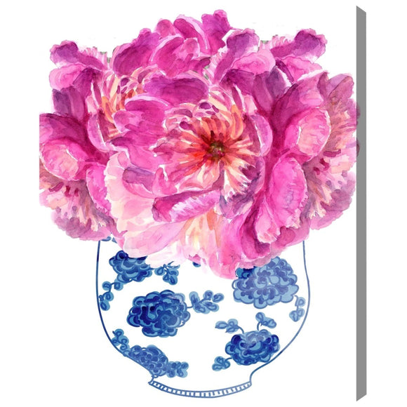 'Morning Peonies' Canvas Art - PoppyLy