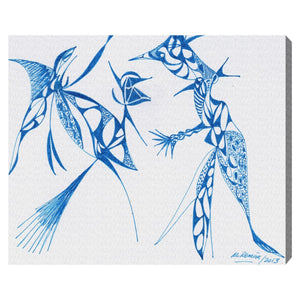 'Dueling Herons' Canvas Art - PoppyLy