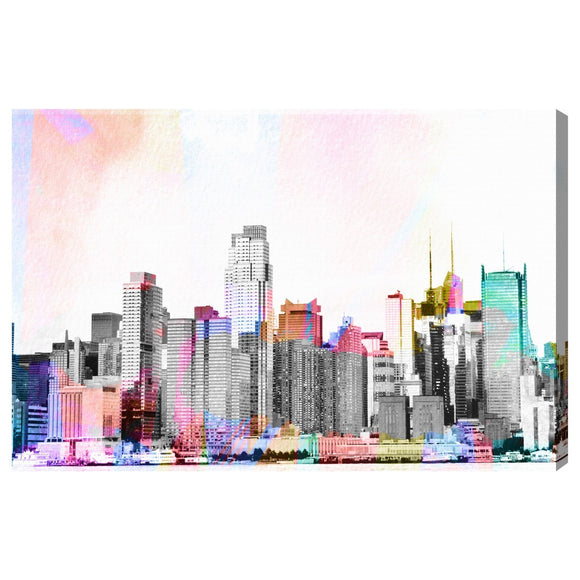 'NY Bright Lights' Canvas Art - PoppyLy