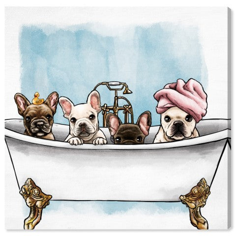 Frenchies In The Tub - PoppyLy