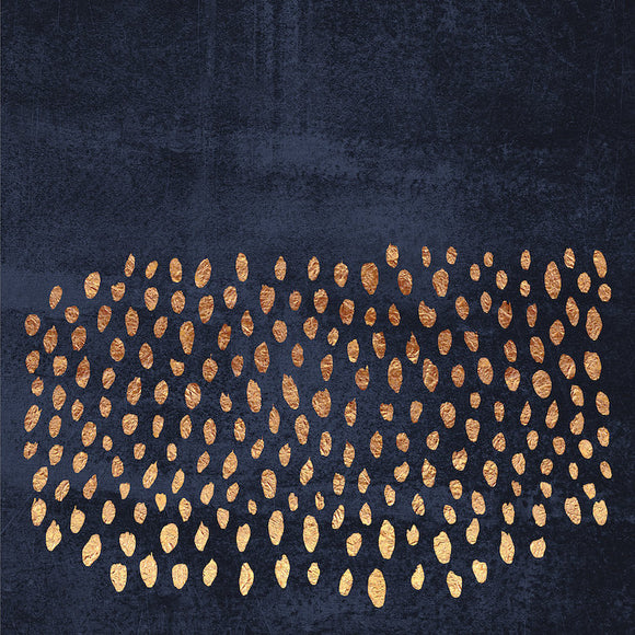 Pattern Play (Gold & Navy) by Elisabeth Fredriksson