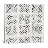 Mudcloth White Geometric Design V by Ellie Roberts