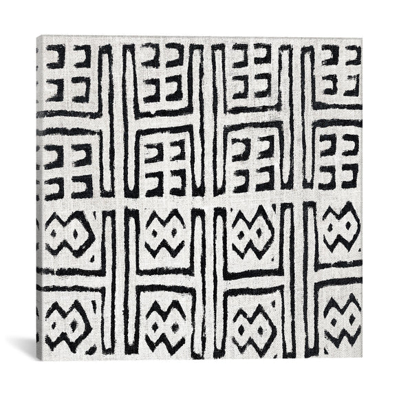 Mudcloth White Geometric Design VII by Ellie Roberts