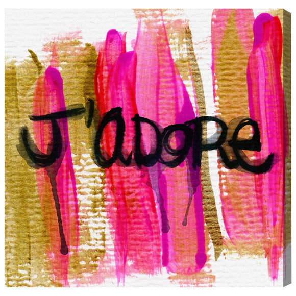 'J'Adore' Canvas Art - PoppyLy