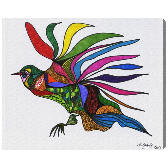 'Bird of Paradise' Canvas Art - PoppyLy