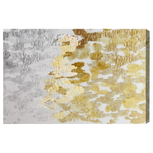 'Gold vs Platinum' Canvas Art - PoppyLy