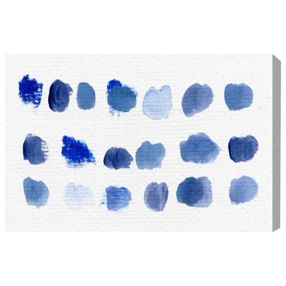 'Certain Kind of Bleu' Canvas Art - PoppyLy