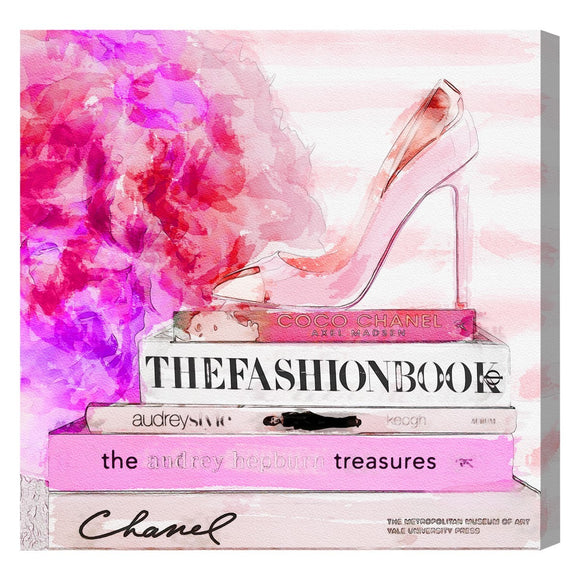 'The Fashion Book' Canvas Art - PoppyLy