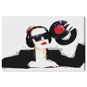 'Listen To My Disc' Canvas Art - PoppyLy
