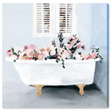 'Floral Tub Square' Canvas Art - PoppyLy