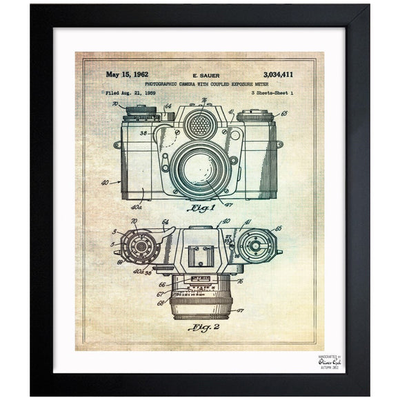 'Sauer Camera, 1962' Framed Art - PoppyLy