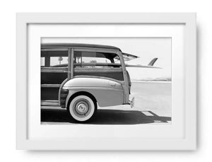 Old Woodie Station Wagon with Surfboard by Skip ODonnell, Photos.com by Getty Images - PoppyLy