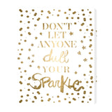 'Always Shine Confetti Gold Foil' Canvas Art - PoppyLy