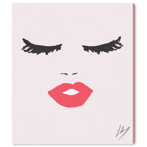'Fashionista Face' Canvas Art - PoppyLy