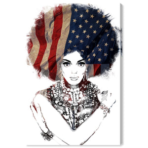 'New American Woman' Canvas Art - PoppyLy