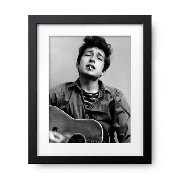 Bob Dylan Portrait With Acoustic Guitar & Cigarette by Michael Ochs Archive, Photos.com by Getty Images - PoppyLy
