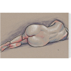 'Nude in Pastels II' Canvas Art - PoppyLy
