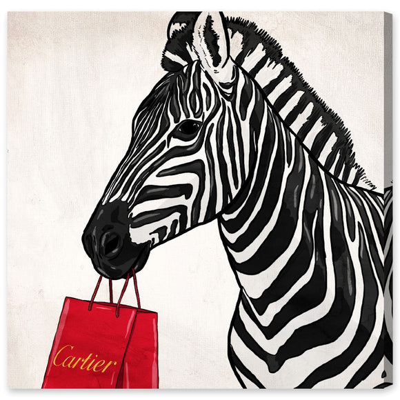 '18882 Expensive Zebra' Canvas Art - PoppyLy