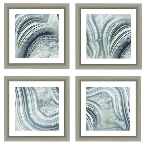 Geode- Gray (set of 4) - PoppyLy