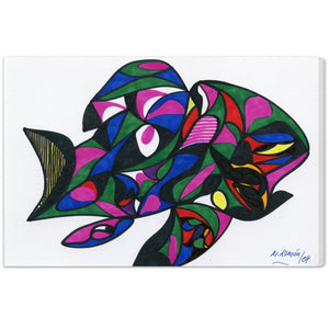 'Colorful Goldfish' Canvas Art - PoppyLy