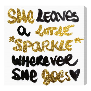 'Little Sparkle' Canvas Art - PoppyLy