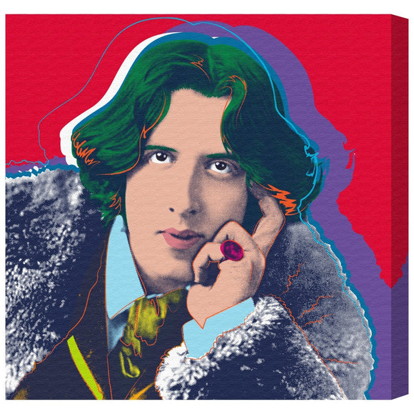 'Oscar Wilde' Canvas Art - PoppyLy