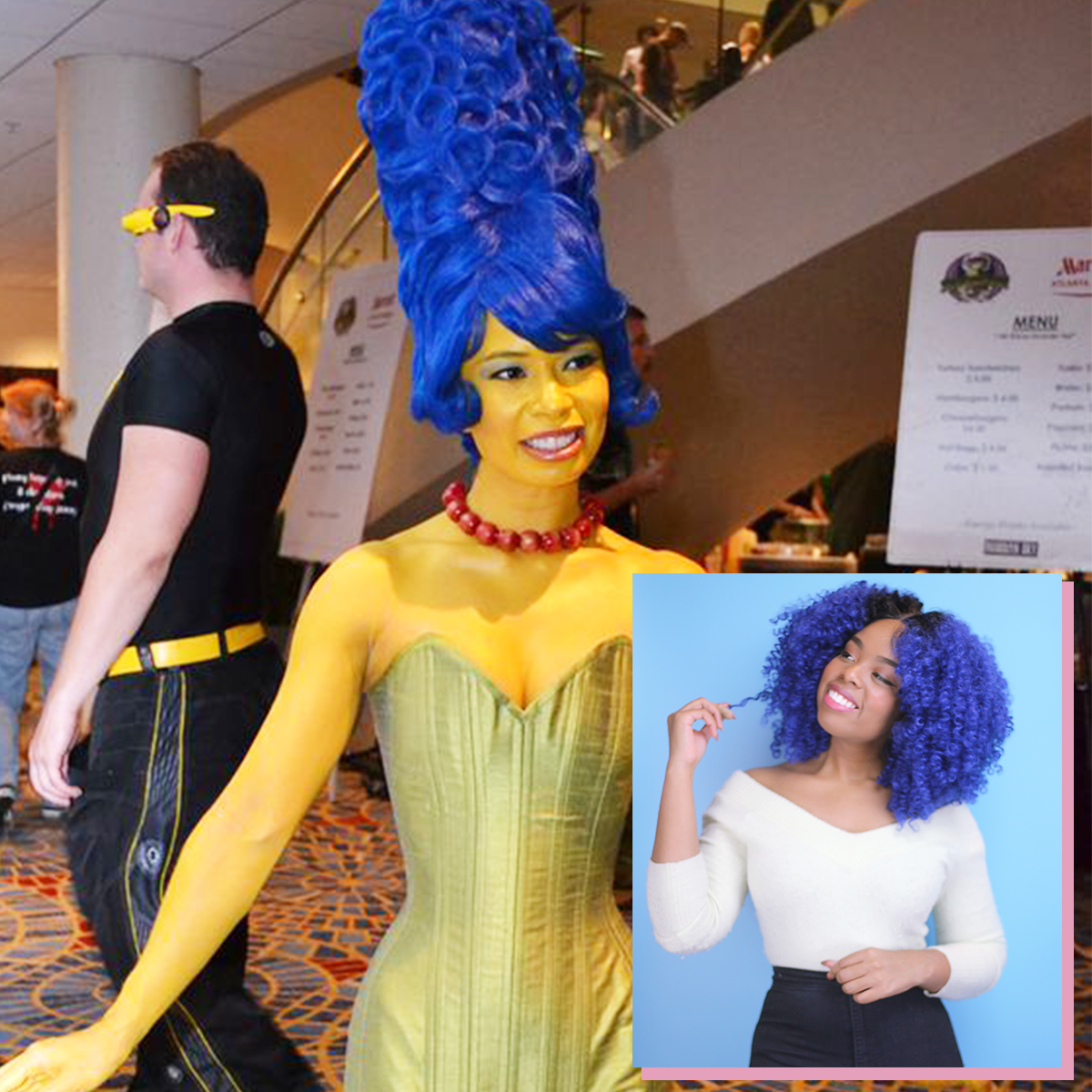 Curly Cosplay Inspo: Marge Simpson