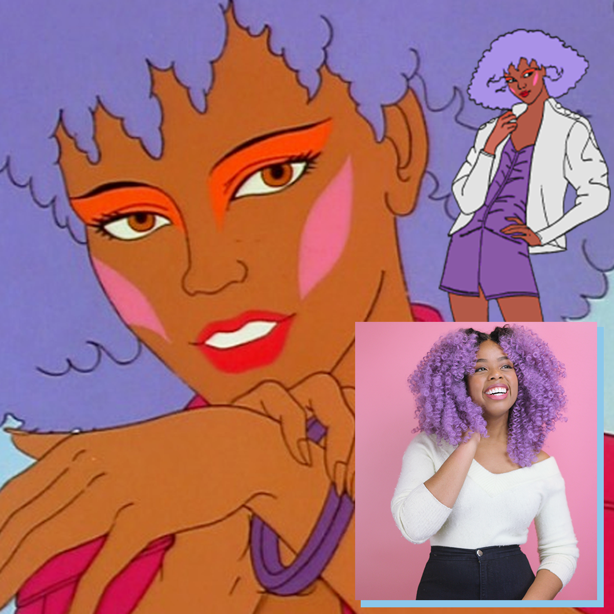 Curly Cosplay Inspo: Shana from Jem & the Holograms