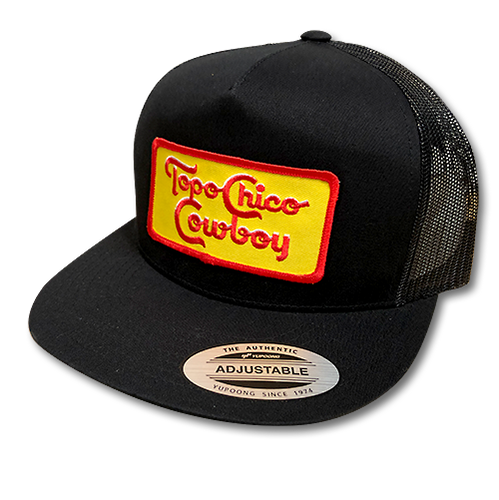 Topo Chico Cowboy Adjustable Cap - Black