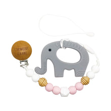 Load image into Gallery viewer, Pacifier Clip & Teether - Elephant