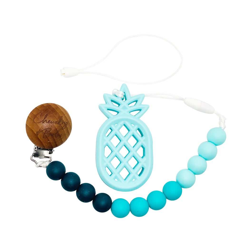 Pacifier Clip & Teether - Pineapple