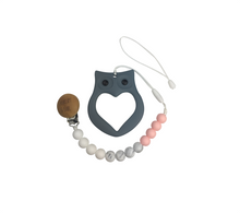 Load image into Gallery viewer, Pacifier Clip & Teether - Owl
