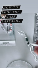 Load and play video in Gallery viewer, Mask Lanyard- Pink Stars