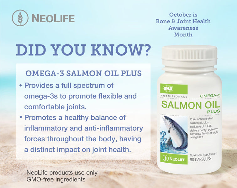 Omega-3 Salmon Oil Plus - October is Bone & Joint Health Awareness Month