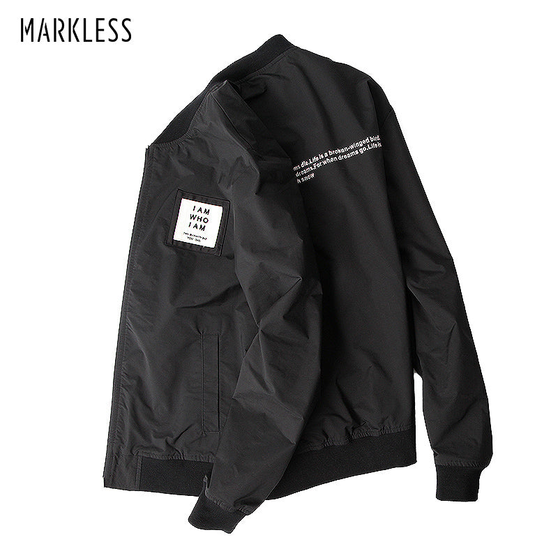 Markless Fashion Jackets Men Slim Fit Baseball Collar Autumn Winter Thick Thick Cotton Padded Warm Jacket jaqueta masculina