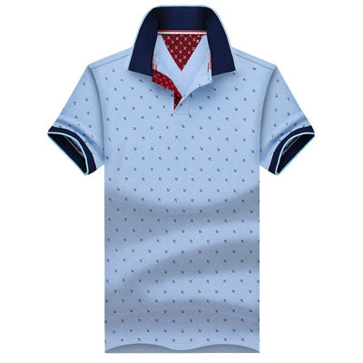 New Brand Polos Mens Printed POLO Shirts 100% Cotton Short Sleeve Camisas Polo Casual Stand Collar Male Polo Shirt 4XL EDA234