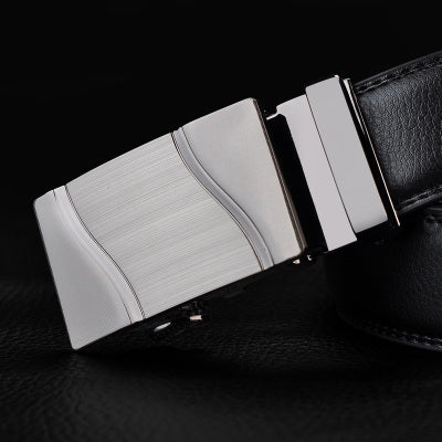 Genuine Leather Automatic Buckle Male