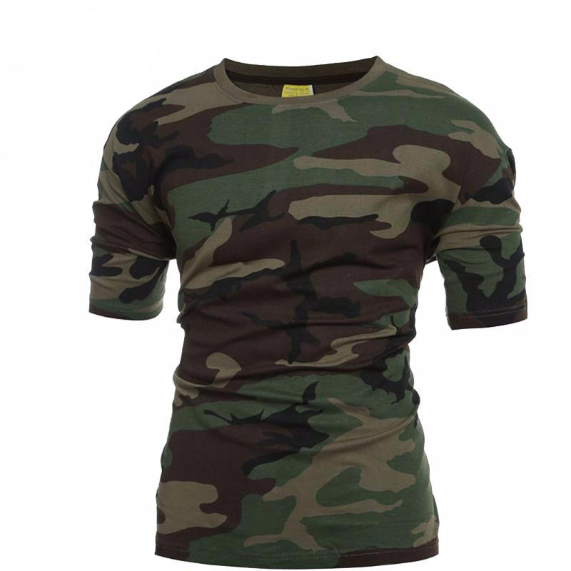 Tactical Military Camouflage T Shirt Men Breathable Quick Dry US Army Combat T-Shirt  Outwear T-shirt