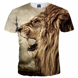 Mr.1991INC New Fashion Men/Women 3d T-shirt Print Ferocious Lion Animal Quick Dry Tshirts Summer Tops Tees