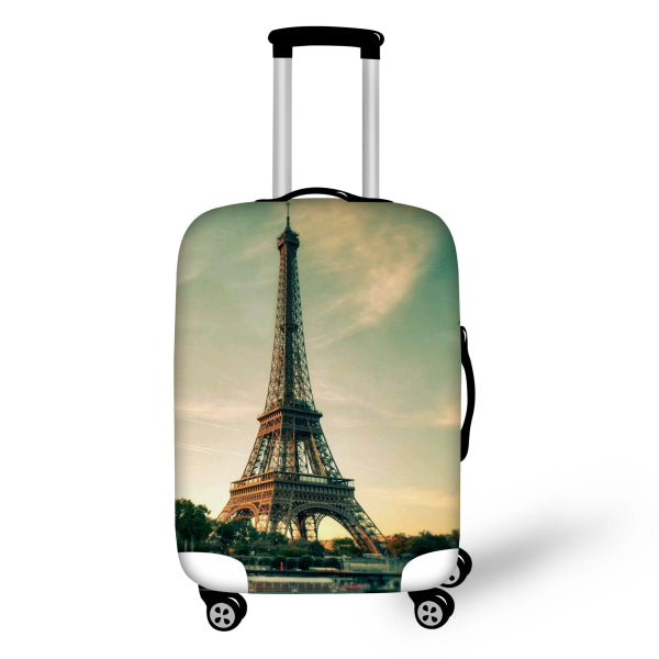 FORUDESIGNS Stamp Prints Travel Luggage Cover For 18-30 Inch Trolley Case Waterproof Elastic Suitcase Stretch Thick Case Covers