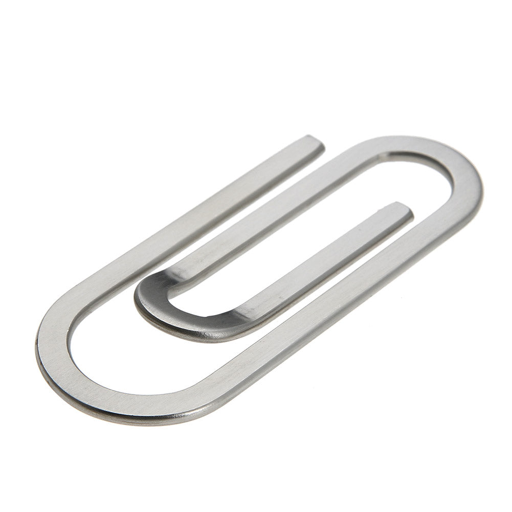 Stainless Steel Metal Multi-Function Men Money Clips Paper Clip Holder Folder Credit Card Portfolio Money Holder Silver Clip