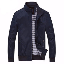 Casual Jacket Mandarin Collar Clothing
