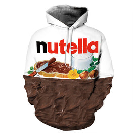 Nutella Pattern Men Hoodies Casual Style 3D Print