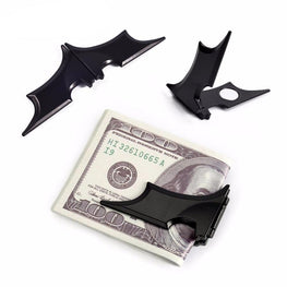 NewBring Black Batman Money Clip Men Matte Magnetic Folding Holder Wallet Key Sticker batman Metal Fridge magnet refrigerator
