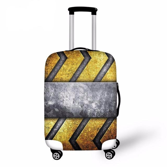 FORUDESIGNS Luggage Protective Case Cool 3D Iron Men Waterproof Cover For 18-30 Inch Trolley Suitcase Elastic Travel Rain Covers