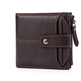MVA Genuine Leather Men Wallets Men Wallet Clutch Vintage Male Purse Hasp Short Wallet Money Clip Purses Leather Purse Wallets