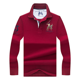 High Quality Tops&Tees Solid color Men Polo 3D Embroidery Poloshirt Casual Polo Shirts winter men's Long sleeve polo shirt brand