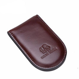 BISON DENIM luxury brand men Cowhide Genuine leather short Money Clip Wallets